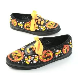 VTG 1996 Colorwerks 9 M Halloween Shoes Candy Corn